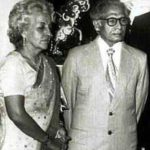Harivansh Rai Bachchan with his wife Teji Bachchan