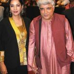 Javed Akhtar with wife Shabana Azmi