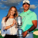 Jena Sims with Brooks Koepka