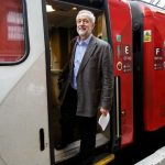 Jeremy Corbyn Travelling on Train
