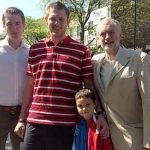 Jeremy Corbyn with his Sons