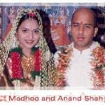 Madhoo and her husband Anand