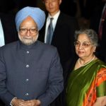 Manmohan Singh With His Wife