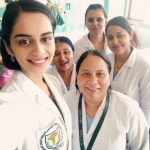Manushi Chhillar, a medical student