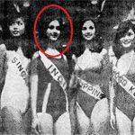 Meenakshi Seshadri in a beauty pageant