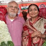Manjul Kumar with his wife Meira Kumar