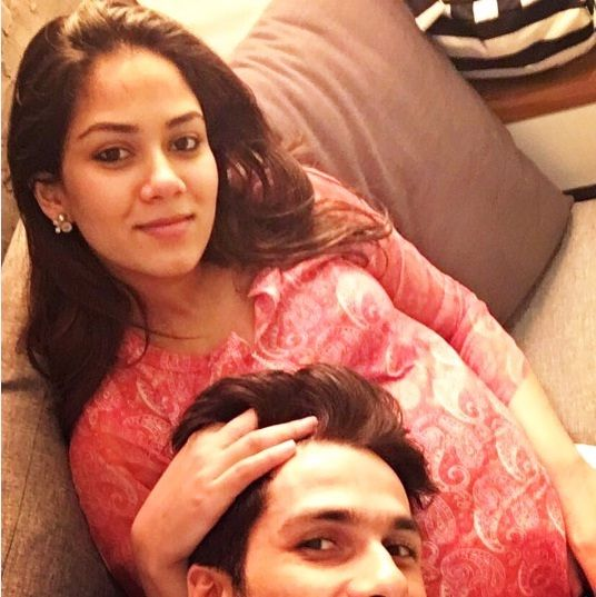 Mira Rajput during her pregnancy