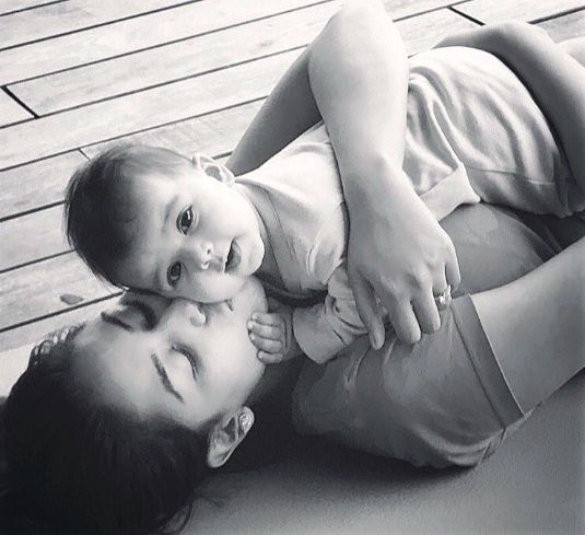 Misha Kapoor's first pic with her mother Mira Rajput