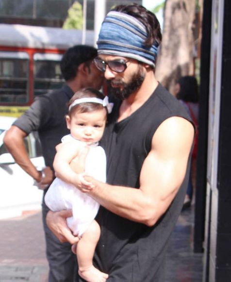 Misha Kapoor with Shahid Kapoor in May 2017