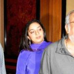 Nidhi Dutta with her grandfather OP Dutta and father JP Dutta