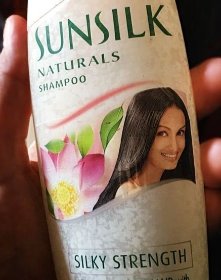 Nisha Rawal on the cover of the Sunsilk bottle