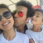 Pallavee Duggal with her husband and daughter