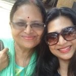 Parineeta with her mother