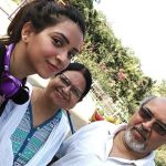 Plabita Borthakur with her parents