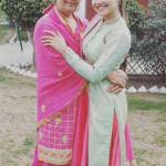 Prabh Grewal with her mother