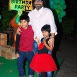 Pritam Chakraborty with his children