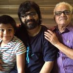 Pritam Chakraborty with his father and son