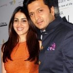Riteish Deshmukh with his wife Genelia DSouza