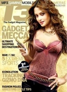 Riya Sen appearance on T3 magazine cover