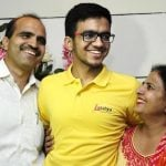 Sarvesh Mehtani with his parents