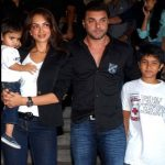 Seema Khan with her husband & children