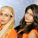 Shabeena Adeeb with her daughter Tooba Jauhar
