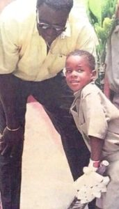 Shai Hope's childhood photo with Clive Lloyd