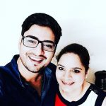 Singer Amit Mishra with his sister