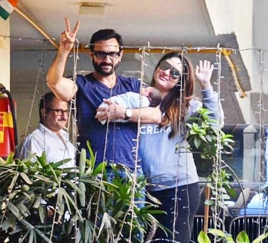 Taimur Ali Khan first day at home