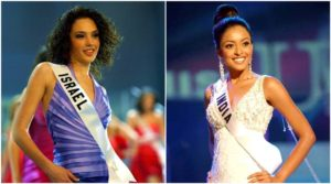 Tanushree Dutta (right) and Gal Gadot (left) during Miss Universe 2004 competition