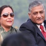 V.K. Singh with his wife