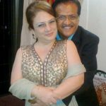Vijay Pande with Faylene Pande