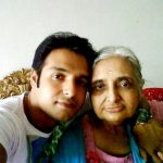Vinay Anand with his mother Pushpa Ahuja Anand