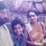 Young Parambrata Chatterjee with his parents