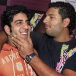 Zoravar Singh with his brother Yuvraj Singh
