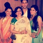 Adhish Khanna with his mother and sisters