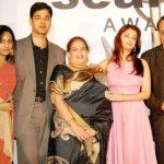 Aditya Rai with her parents, sister & wife