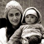 Ahana Deol with her son Darien Vora