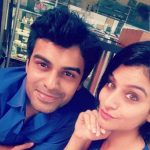 Amit Dolawat with his fiancee Cheshta Sharma