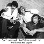 Amjad Khan With His Father (Centre) and Brother Imtiaz