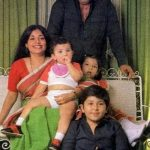 Amjad Khan With His Wife and Children