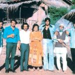 Amjad Khan With Sholay Starcast