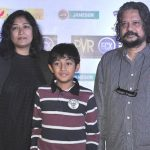 Amol Gupte with his wife and son