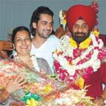 Arjan Bajwa With His Parents
