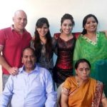 Asha Negi with her family