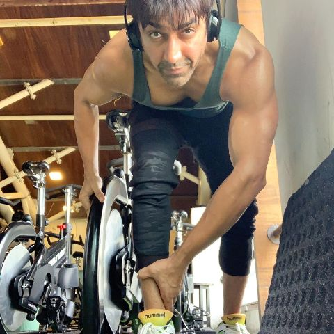 Ashish Chowdhry inside the gym
