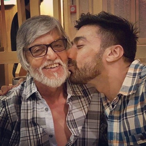 Ashish Chowdhry with his father