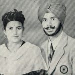 Balbir Singh with his wife Sushil