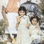 Balbir Singh with his wife and children