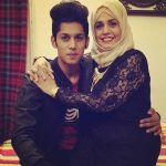 Baseer Ali with his mother